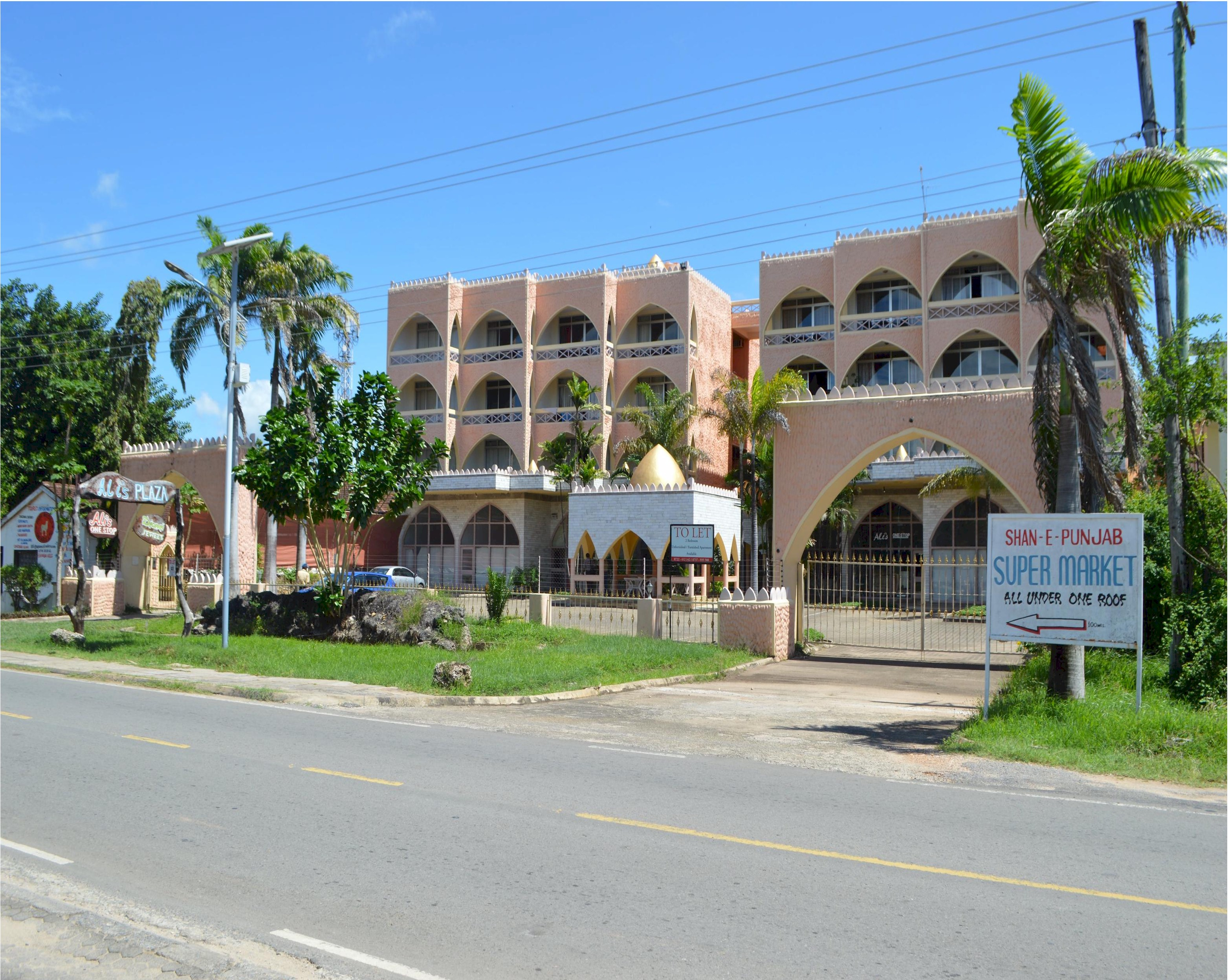 ALI'S PLAZA - DIANI BEACH ROAD, KWALE